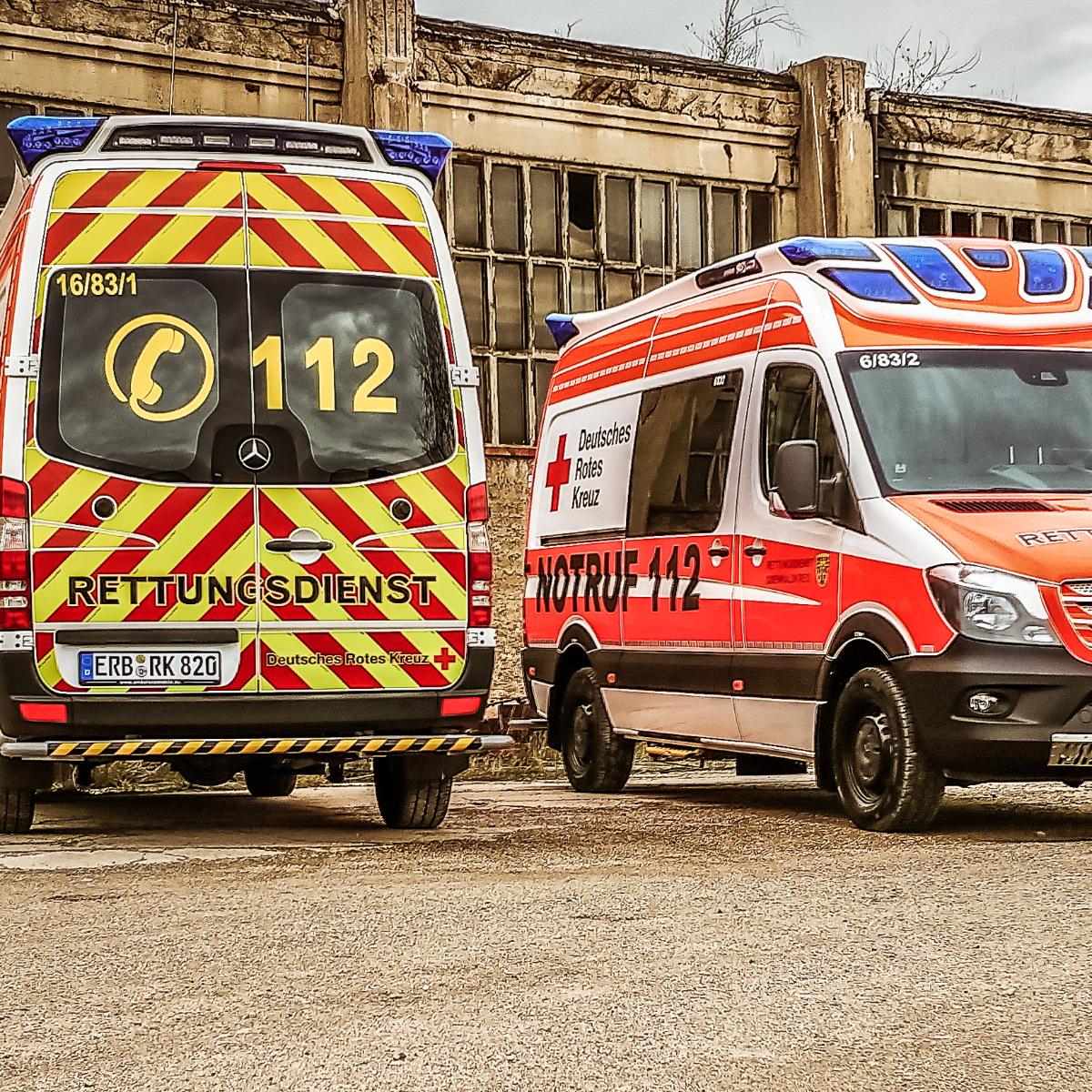 Rettungswagen des DRK Odenwaldkreis e.V.