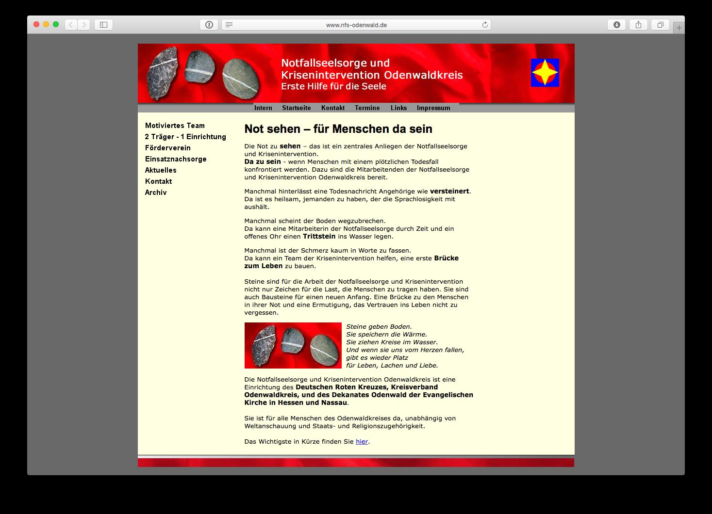 Notfallseelsorge und Krisenintervention Odenwaldkreis