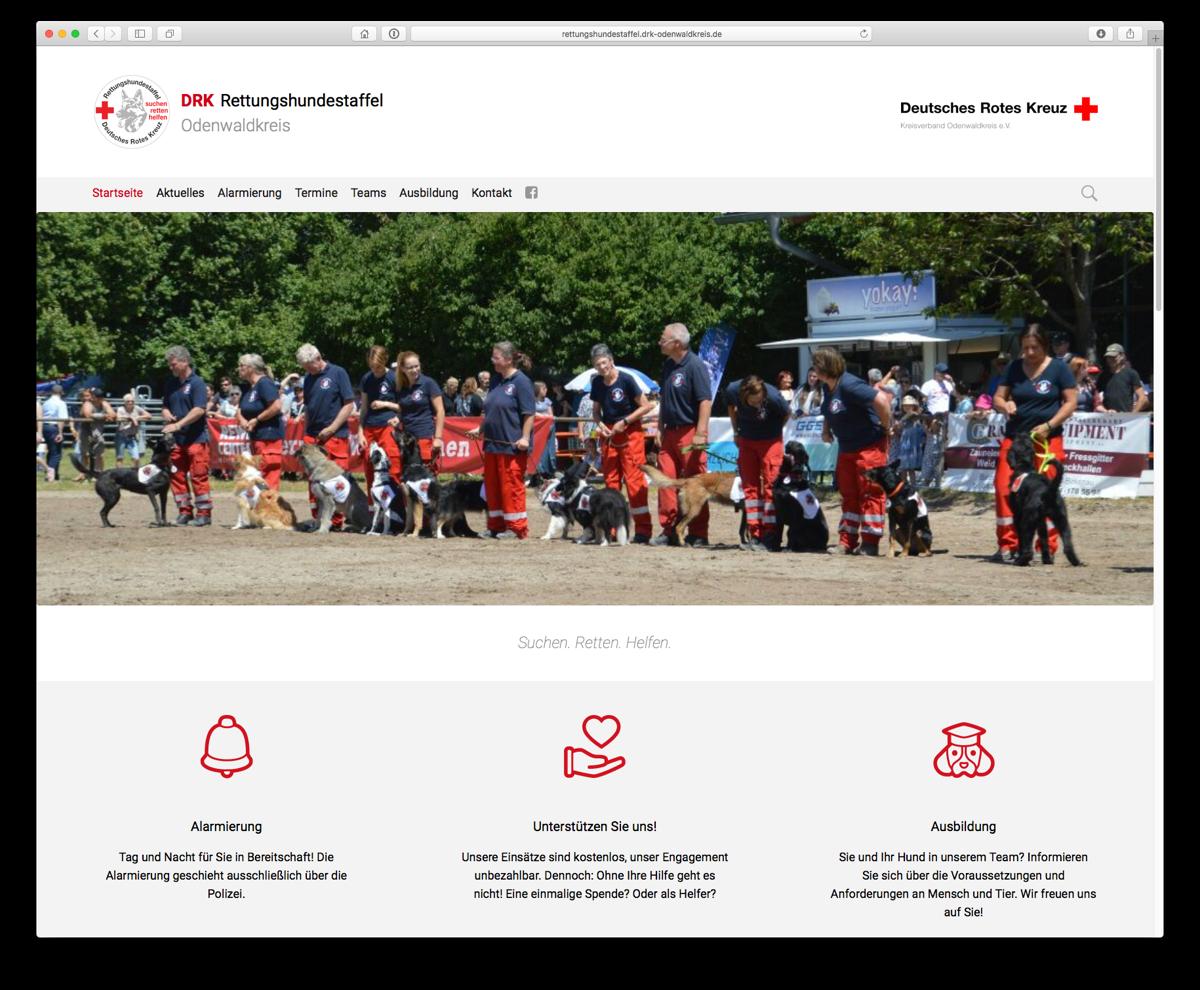 Screenshot von http://rettungshundestaffel.drk-odenwaldkreis.de