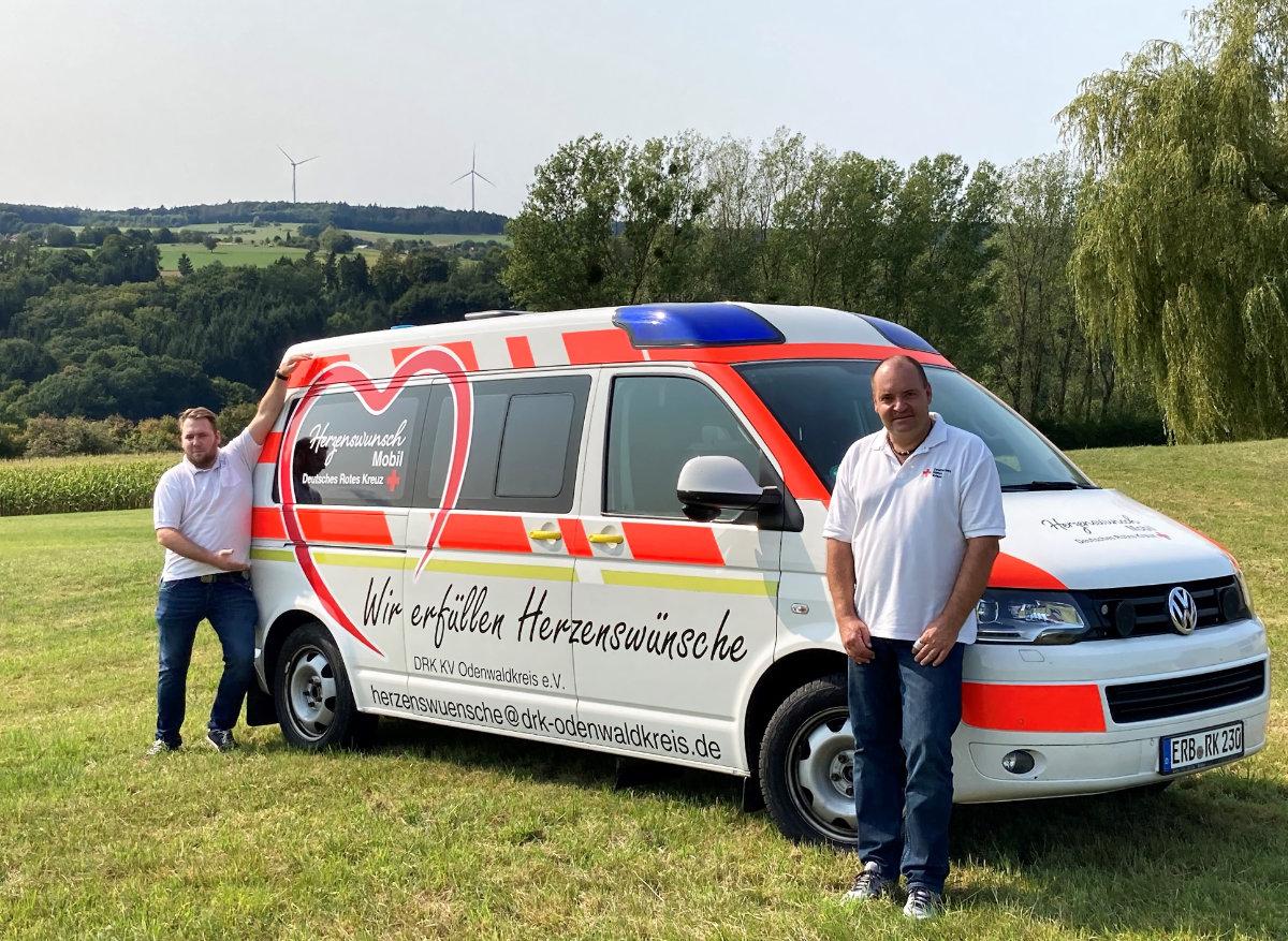 Mit dem Herzenswunschmobil macht das Rote Kreuz letzte Wünsche wahr. (Foto: DRK Odenwaldkreis)